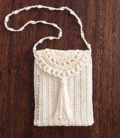Monedero o bolsito tejido a crochet de una sola pieza (1 piece crochet purse)