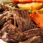 Easy Pot Roast Dinner You'll Need: 3 to 5 lb beef roast (I prefer a rump roast or shoulder roast, but most any cut will do) large dutch oven or enamel roasting pan or large stockpot for the top of the stove 2 large onions small bag of carrots cut in oval shape and peeled small bag of red potatoes Read More