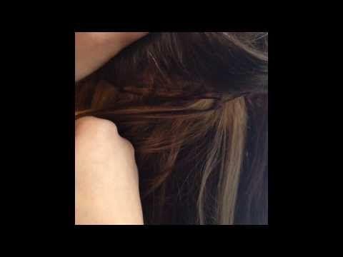 Præsentation af hair extension metoden ez weft med mikroringe. NB: Normalt passer hår og mikroring farve til det naturlige hår :) - HaarStraa