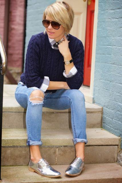 Shiny Classics | SEERSUCKER   SADDLES Beth's style is the best!!!!
