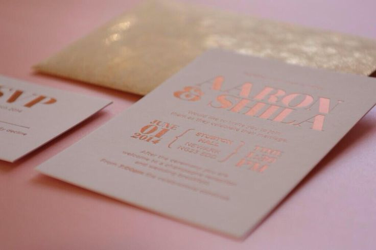 Wedding invite. Rose gold foil block. G F Smith white frost colorplan and gold twist envelope. Bespoke creation by theeventdesign.co.uk @theeventdesign