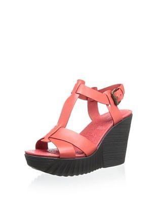 46% OFF Rockport Women's Kinsley T-Strap Wedge Sandal (Poppy Red)
