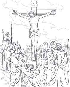 14 Best Stations Of The Cross Coloring Pages Images On Pinterest