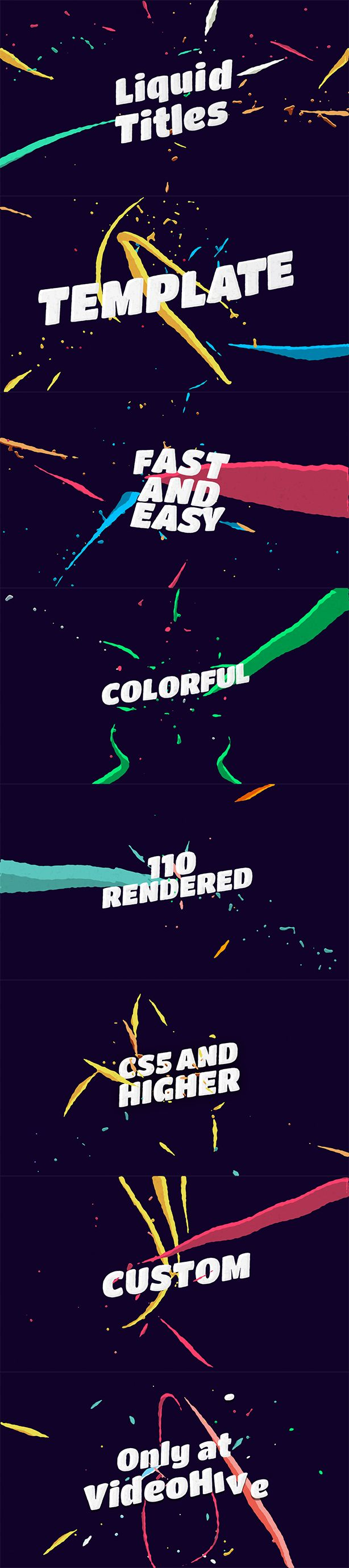 Liquid Animation Titles (Abstract) – After Effects Templates - After Effects Templates