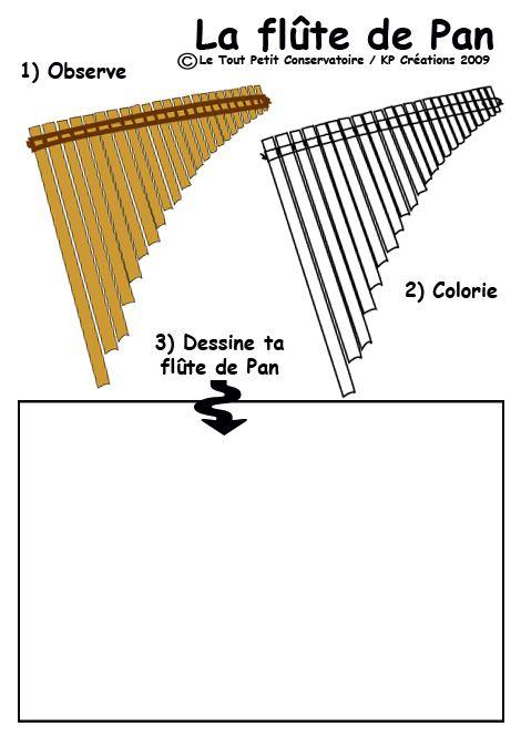 Les 136 meilleures images propos de dessins coloriages - Dessin de flute ...