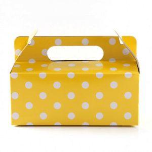 Yellow with White Polkadot Gloss Party Box