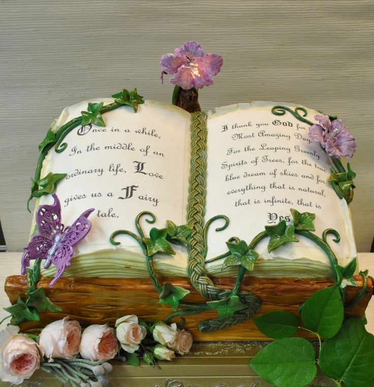 Magic Book - Custom Wedding cake - The Cake Zone