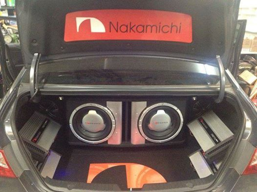 """Riding in style with our Nakamichi SP-W350D 12"""" 4Ohm DVC Subwoofer and our NGTA704 Amplifier:"""