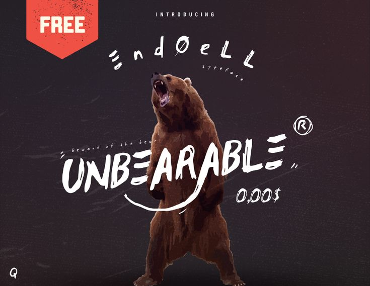 """Check out this @Behance project: """"ENDOELL - FREE BRUSH FONT"""" https://www.behance.net/gallery/58542577/ENDOELL-FREE-BRUSH-FONT"""