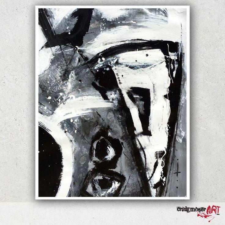 Untitled B&W abstract original by @craigmoserart #abstractart #austinart