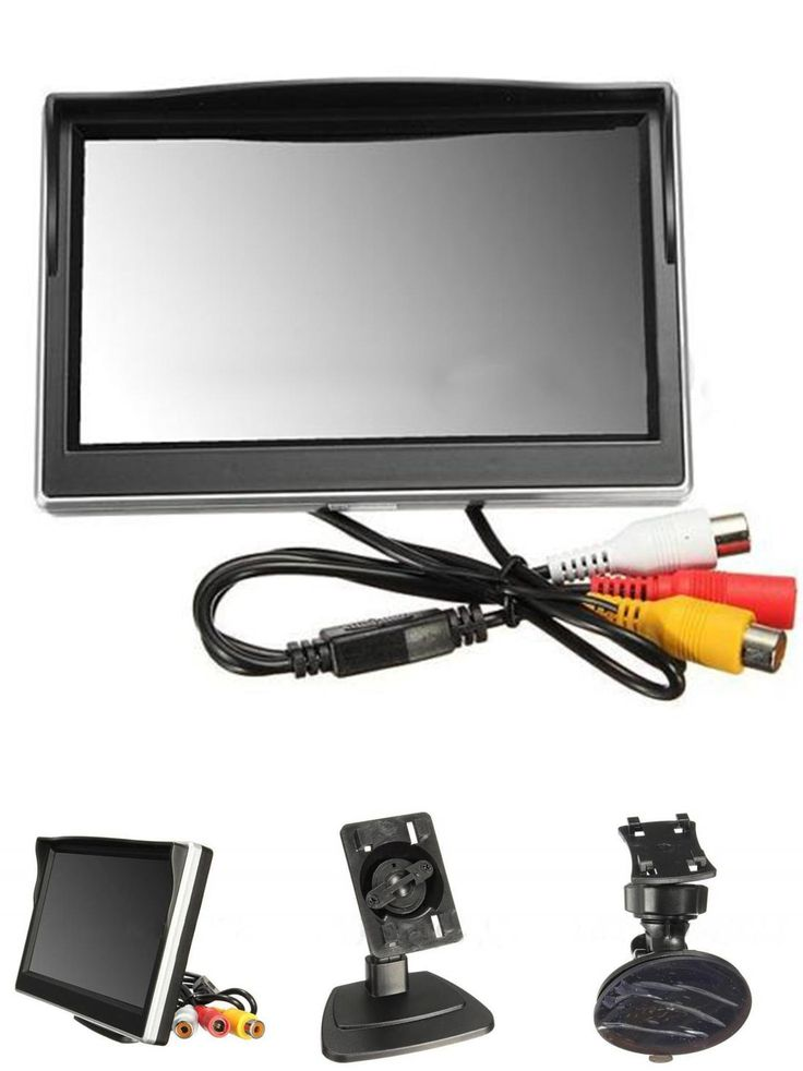 """[Visit to Buy] AUTO New 5"""" 800*480 TFT LCD HD Screen Monitor for Car Rear Rearview Backup Camera #Advertisement"""