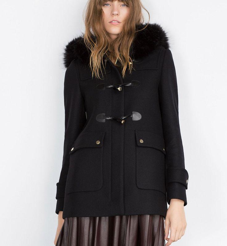 Manteaux tendance automne hiver 2015-2016 : un duffle-coat Zara
