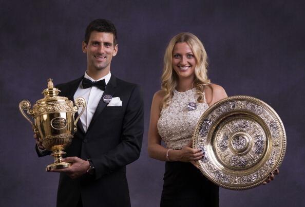 Wimbledon 2014 Champions - Novak Djokovic  Petra Kvitova