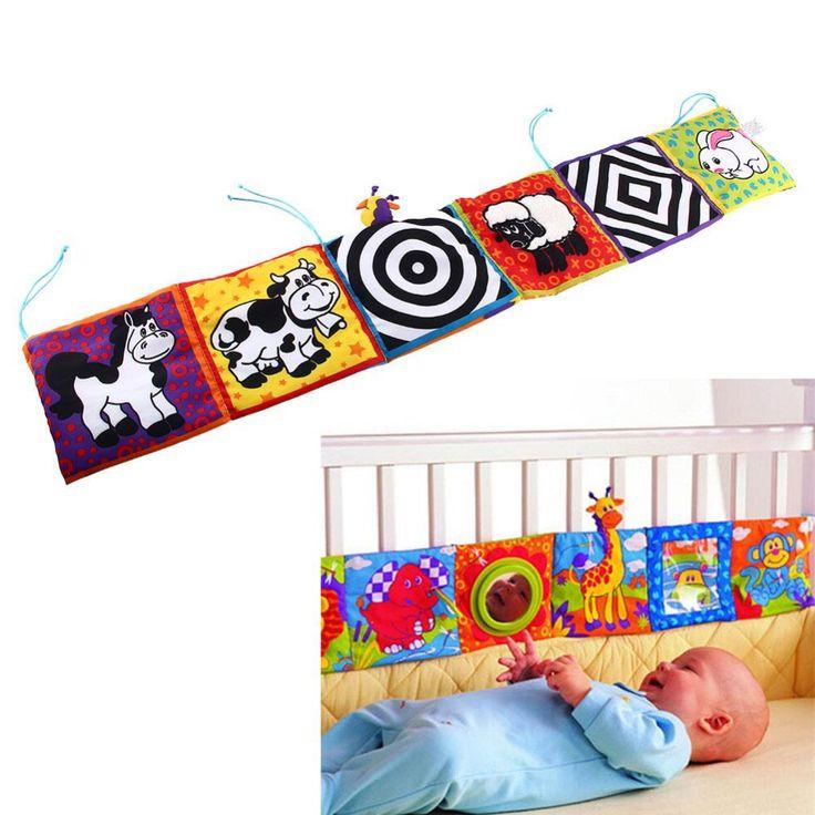 Baby toys krippe stoßfänger baby tuch buch baby rasseln wissen rund um bunte bett bumper für kinder toys 92*14 cm