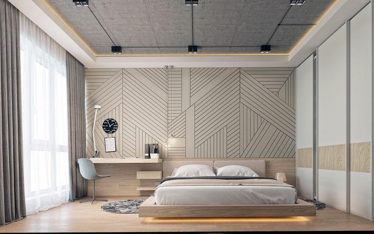 gorgeous wooden bedroom