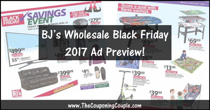 ***WOOHOO...  ANOTHER NEW BLACK FRIDAY AD*** BJ's Wholesale Club Black Friday 2017 Ad ~ BROWSE all 47 Pages of the Ad! BROWSE the Ad Scan HERE ► http://www.thecouponingcouple.com/bjs-wholesale-club-black-friday-2017-ad/  Visit us at http://www.thecouponingcouple.com for more great posts!
