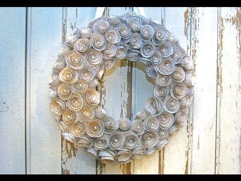 ▶ Recycled Book Wreath Tutorial - YouTube, find out her Fav book, might be neat to try & do...LOL