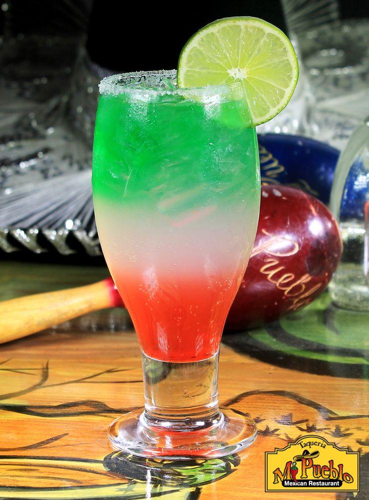 Viva Mexico - Tequila el Patron Silver, Soda, Granadine, Natural Syrup, Lime Juice, Mint Liquor and Salt on the Rim. #drinks #mexicantown #mexico #detroit #dtown #southwestdetroit #michigan