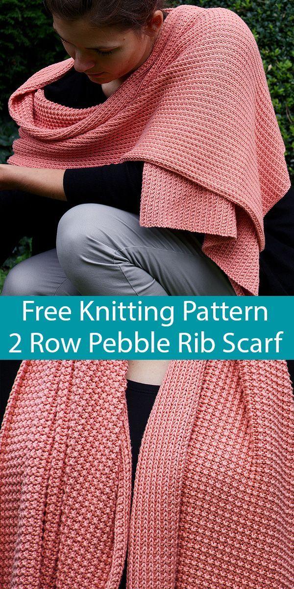 Free Knitting Pattern For Easy 2 Row Repeat Pebble Rib