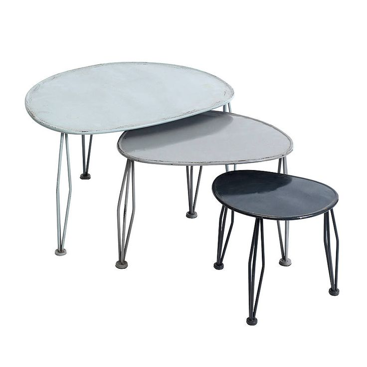 metal nesting tables by nordal by idea home co | notonthehighstreet.com