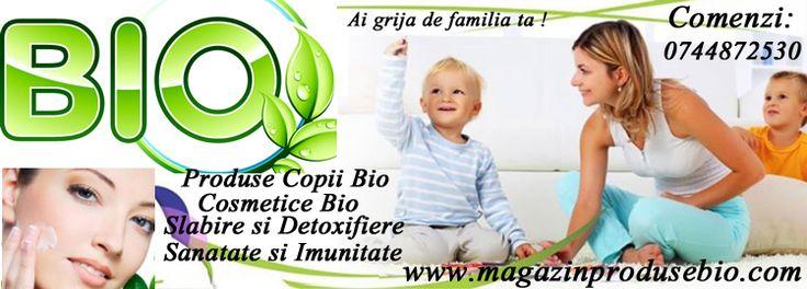 Magazin Produse Bio pentru casa si familia ta : cosmetice bio, detergenti bio, produse slabire si detoxifiere bio, produse copii bio!