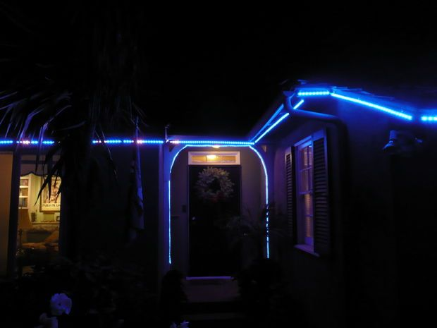 http://www.instructables.com/id/Permanent-Digital-LED-House-Holiday-Lighting/