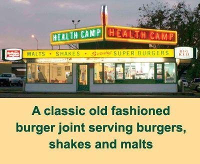 Waco- Texas Health Camp- Old Fashioned Burgers and Malts.