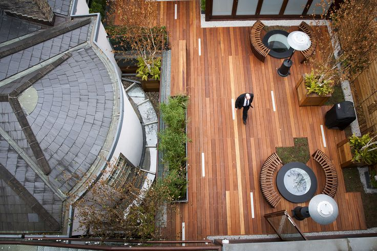 Aerial view of a Georgian House Roof Garden