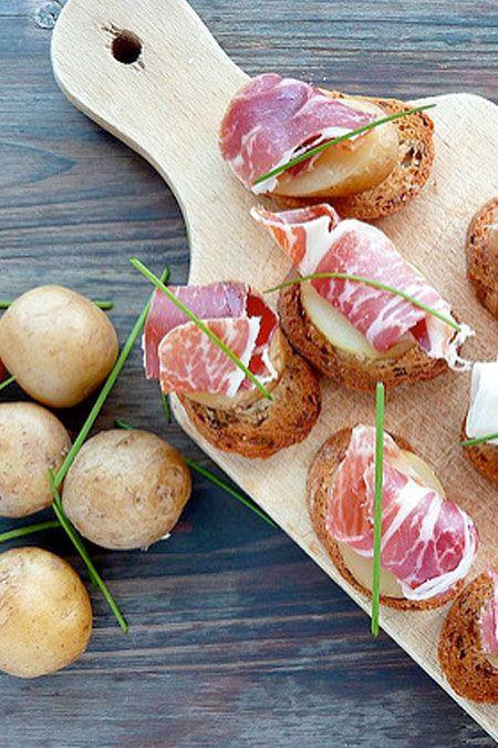 POMME DE TERRE PRIMEUR - Toast de pommes de terre bonnottes de Noirmoutier et Pata Negra