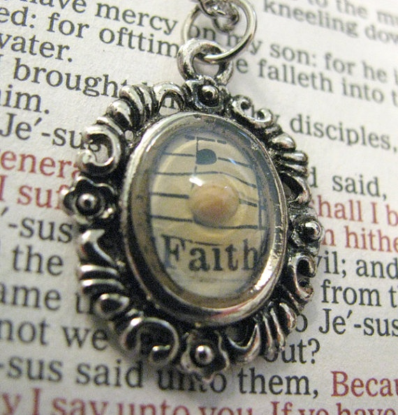 FAITH as a MUSTARD SEED Necklace - Bible Verse - Inspirational Christian Jewelry on Etsy, $16.25
