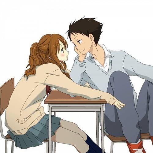 Cute and sweet~~ (Tonari no Kaibutsu-kun Manga) I hope they end up together >_