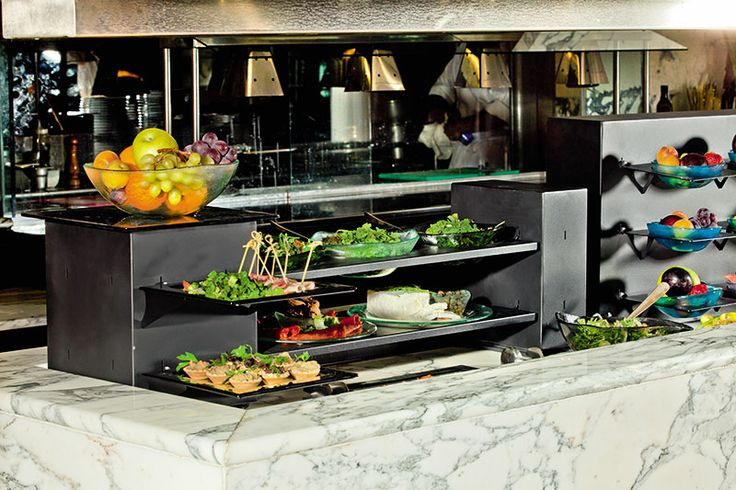 Fingerfood display buffet