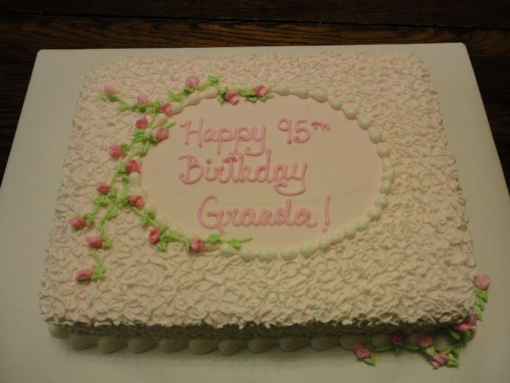 Cake Design For Grandma : Sheet Cake for Grandma s Birthday Grandma s BDAY Cake ...