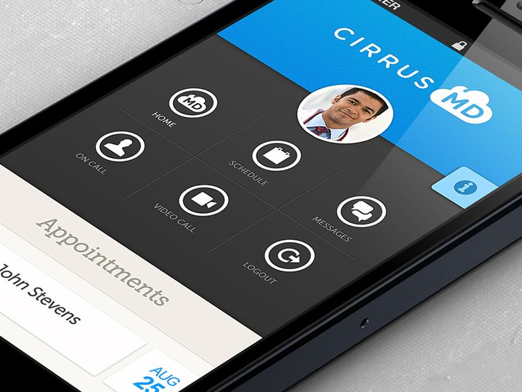 CirrusMD IOS App | Flat UI Medical Apps for Managing Patients