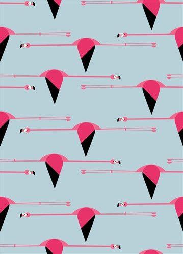Maritime - Flamingos - Charley Harper for Birch Fabrics - CH-27 - 1/2 yd