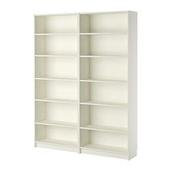 IKEA - BILLY, Bookcase, white, , Adjustable shelves can be arranged according to your needs.