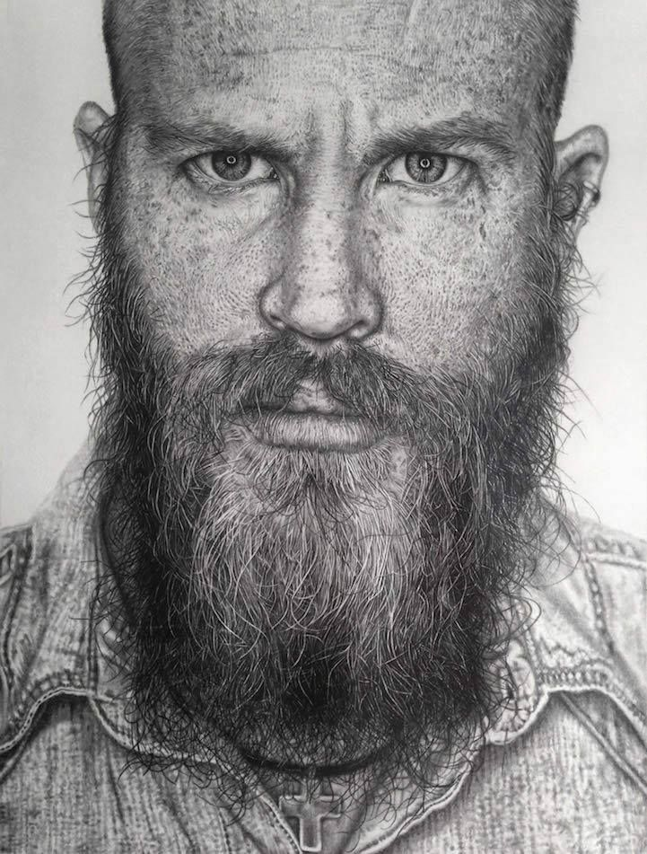 Incredible Drawings Beautifully Capture Fine Facial Details by Monica Lee