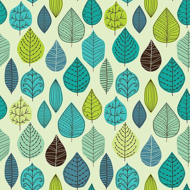 Leaf pattern on Behance