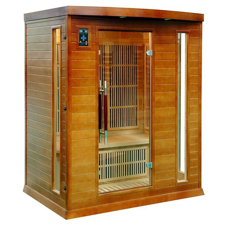 Sauna przeznaczona dla 3 osób, wykonana z drewna jodły kanadyjskiej, wyposażona w jonizator...
