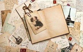 letras, Marca, Mercadoria, Imprimir, Vintage, fotografia, par, spia, Torre Eiffel