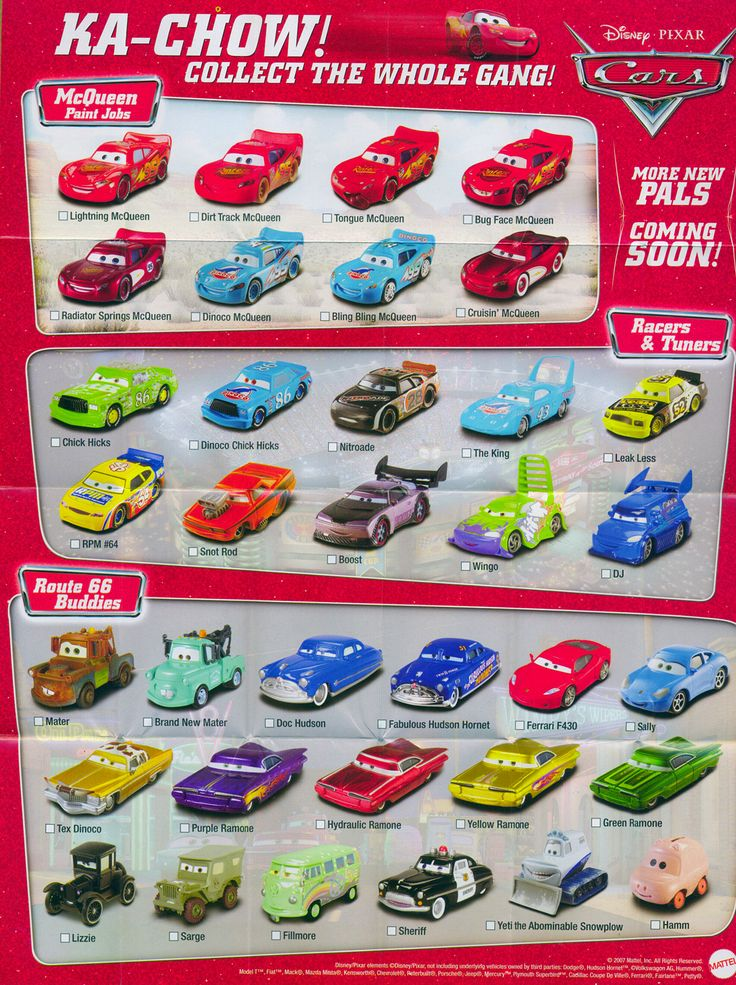 Disney Cars Diecast Complete List | Mattel Disney Pixar Diecast CARS: Anything You Can Collect, I Can ...