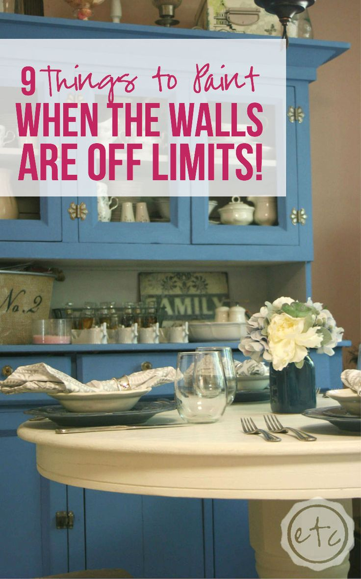 9 things to paint when the walls are off limits paint for Things to paint on your wall