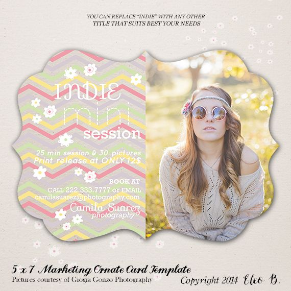 5x7 Photography Marketing Ornate Board Template - Photoshop Template - M011 - instant download  SHOP AT: etsy.com/shop/eleob SEARCH WITH THE CODE   Pictures by Giorgia Gonzo Photography  Model Mirela
