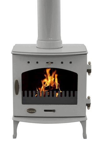 4.7KW Carron Ash Grey Enamel Multi Fuel Stove | Buy Traditional Multi Fuel Stoves Online | UK Stoves