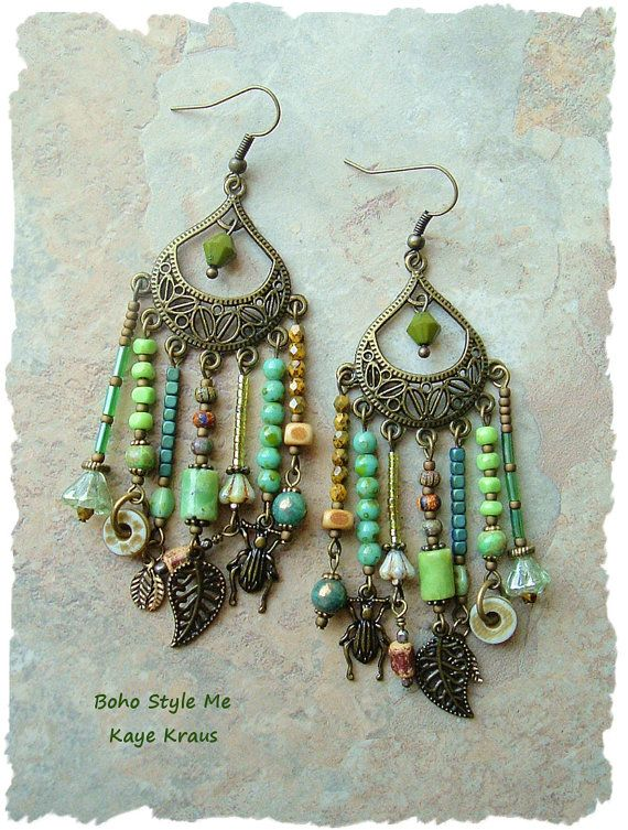 Reserved Assemblage Earrings Boho Nature Girl Earrings