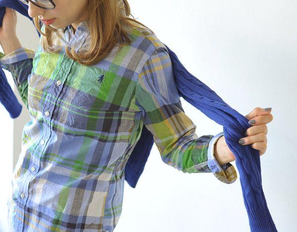 【楽天市場】Gymphlex ジムフレックス マドラスチェック ロングスリーブ ボタンダウンシャツ・j-0872-bgm(全2色)(S・M・L)【2014春夏】:Crouka(クローカ)