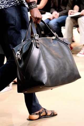 Louis Vuitton Leather duffle, Men's Spring Summer Fashion.