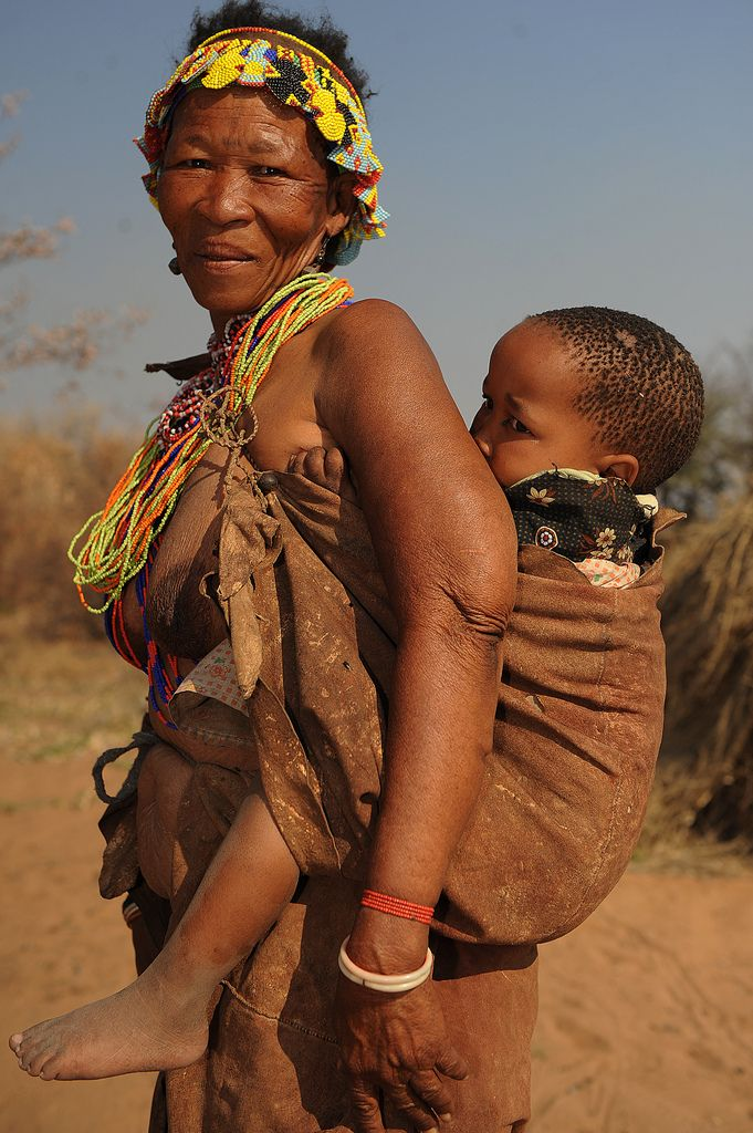 Africa | San woman and child.  Namibia. | © Geert Henau.