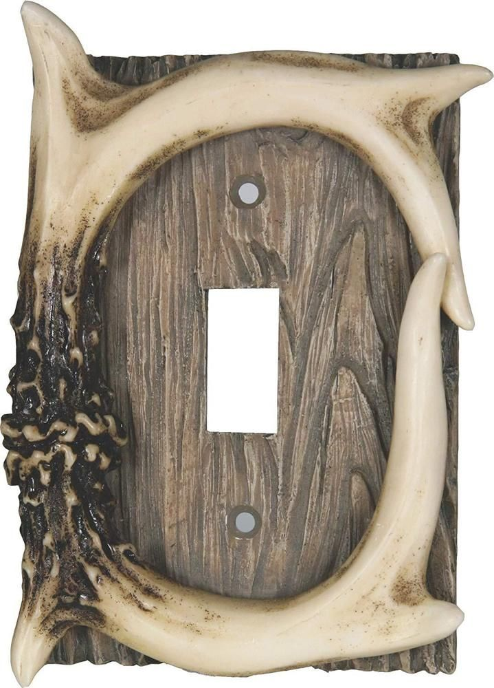 River/'s Edge Products 1382 Deer Antler Theme Welcome Plaque