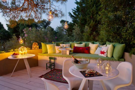Romantic mood <3 Outdoor terrace idea at Ekies All Senses Resort, Greece.
